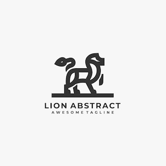 Lion illustrazione astratta logo.