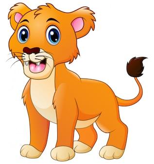 Un leone ruggente cartone animato