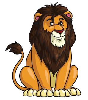 Lion cartoon style