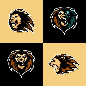 Modello di logo di lion esport