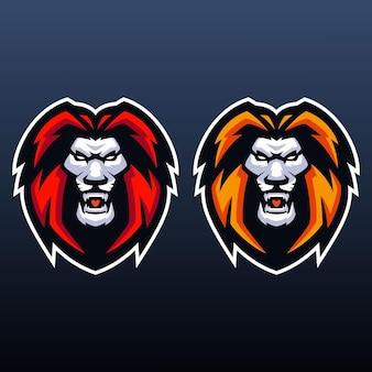 Modelli di logo lion esports