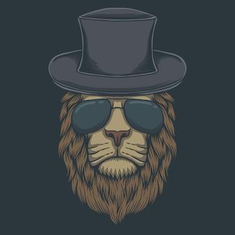 Occhiali con testa di leone