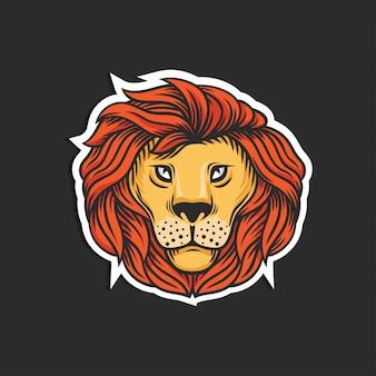 Icona della testa di leone personaggio