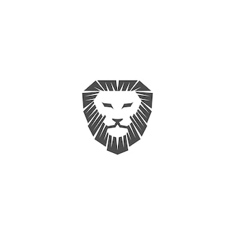 Disegno della mascotte dell'emblema dell'illustrazione della testa di leone modello