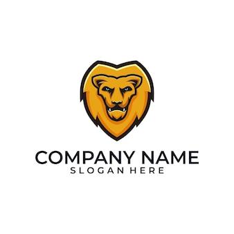 Lion head illustration vector template