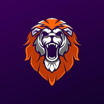 Design logo testa di leone