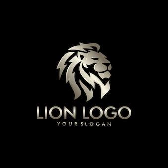 Modello di logo testa di leone