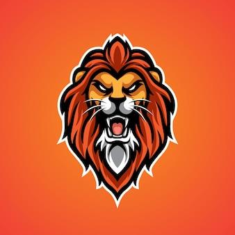 Logo della mascotte della testa di leone