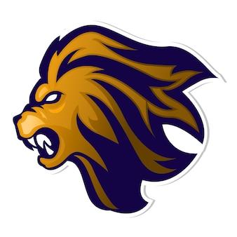 Logo della mascotte lion head