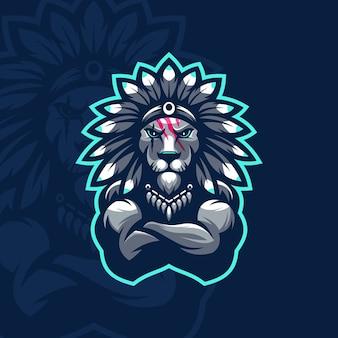 Disegno dell'icona del leone