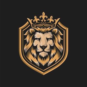 Modello di illustrazione del leone