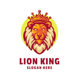 Disegno del logo del re leone