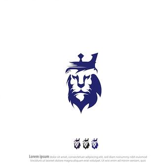 Logo di re leone vettoriale
