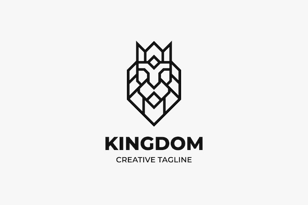 Logo aziendale minimalista del re leone
