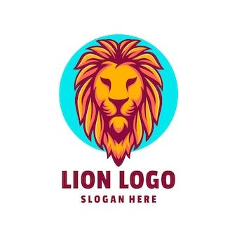 Vettore di disegno del logo del leone