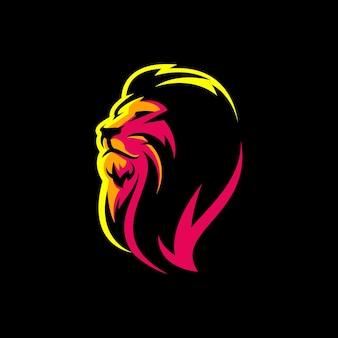 Design del logo del leone con
