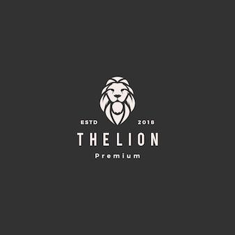 Illustrazione dell'icona di vettore di logo del leone