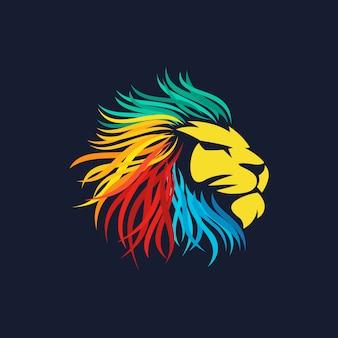 Lion logo vettoriale
