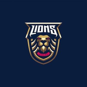 Logo lion Vettore Premium