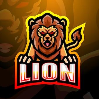 Illustrazione di esport mascotte leone