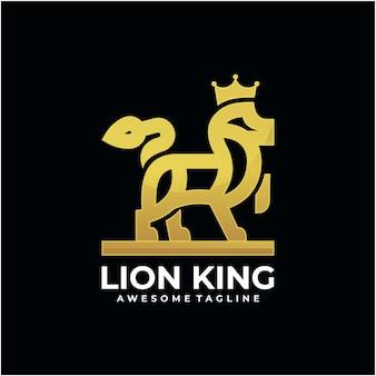 Disegno del logo mascotte leone