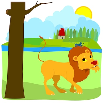 The lion and the mouse friendly tale