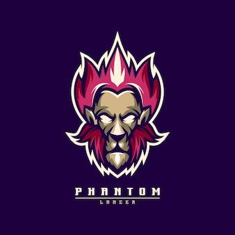 Logo fantasma leone con vettore per la modifica