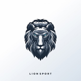 Logo lion sport