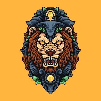 Testa di guerriero leone