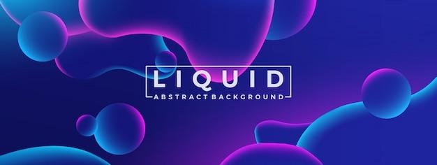 Modello fluido astratto liquido forme disegno di sfondo