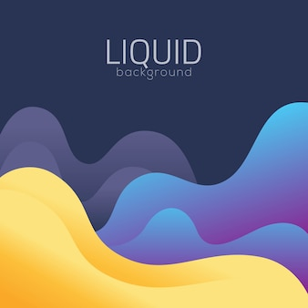 Sfondo di design liquido banner moderno modello e poster futuristici
