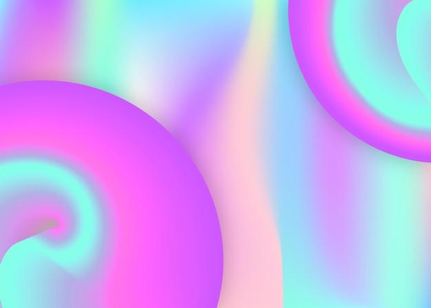 Elementi liquidi. maglia sfumata vivida. sfondo 3d olografico con una miscela moderna e alla moda. presentazione magica, layout delle carte. sfondo di elementi liquidi con forme dinamiche e fluide.