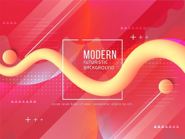 Vettore futuristico moderno del fondo di flusso liquido
