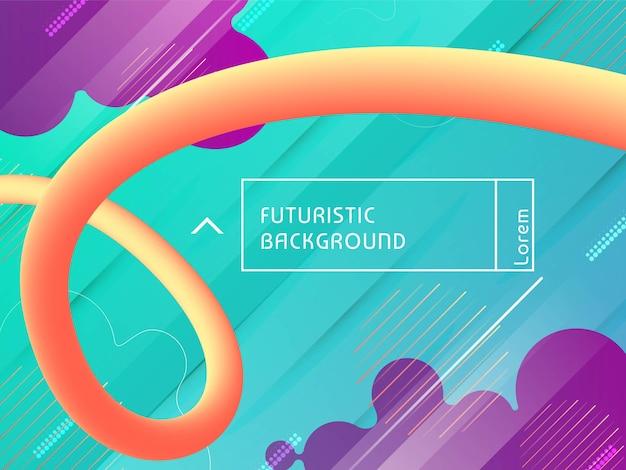 Fondo futuristico moderno di flusso liquido