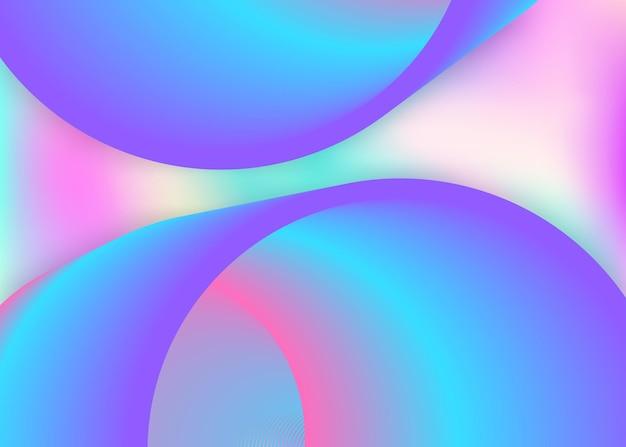 Fluido liquido. copertura circolare, cornice per carta da parati. sfondo 3d olografico con una miscela moderna e alla moda. maglia sfumata vivida. sfondo fluido liquido con elementi e forme dinamici.
