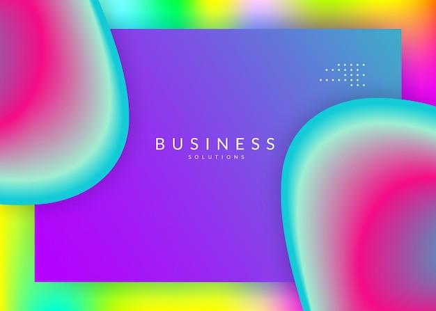 Fluido liquido. banner creativo, composizione dell'interfaccia. maglia sfumata vivida. sfondo 3d olografico con una miscela moderna e alla moda. fluido liquido con elementi e forme dinamiche. pagina di destinazione.