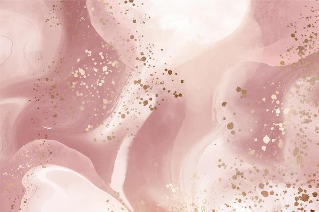 Sfondo di marmo liquido con schizzi d'oro