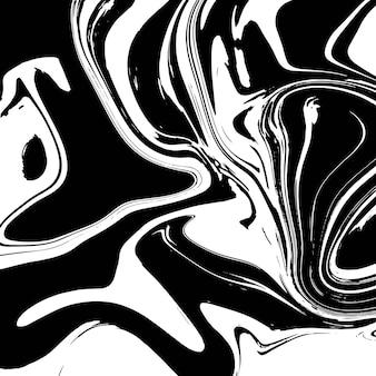 Progettazione di struttura di marmo liquido, superficie di marmorizzazione variopinta, progettazione in bianco e nero e vibrante della pittura astratta