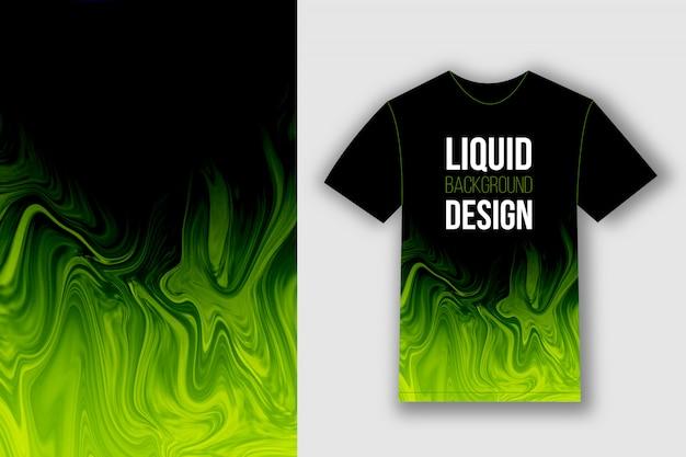 Design della maglietta con motivo liquido