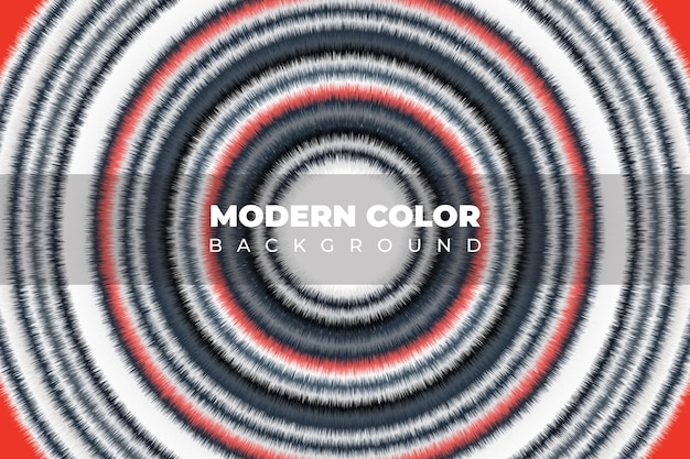 Consistenza liquida colore artistico fluido cerchio bianco e rosso