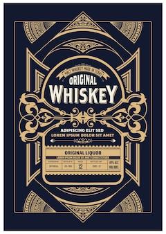 Etichetta di liquore design vintage retrò.