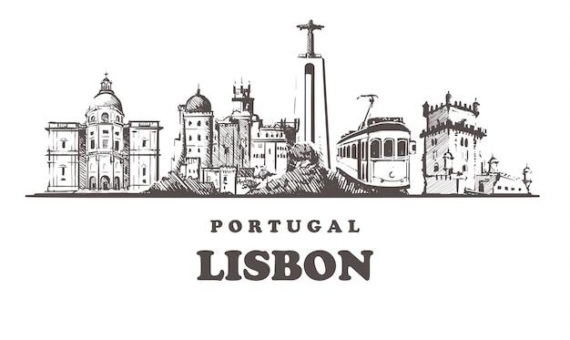 Paesaggio urbano di lisbona, portogallo
