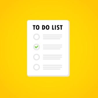 Banner della lista delle cose da fare. pianificazione del mese, gestione del tempo. vettore su sfondo isolato. env 10.