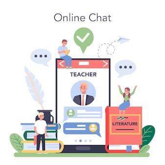 Servizio o piattaforma online di materie scolastiche di letteratura