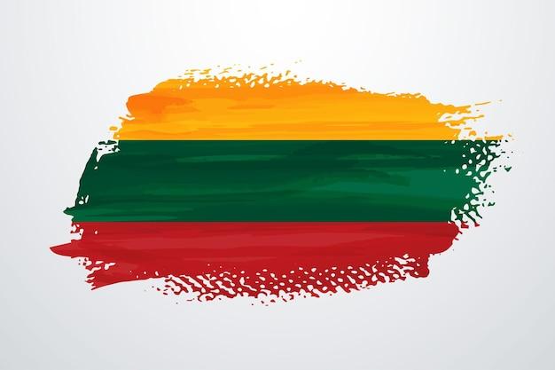 Bandiera della pittura a pennello della lituania