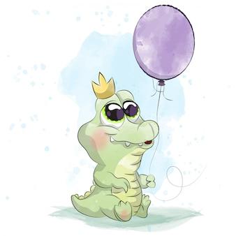 Piccolo alligatore bambino