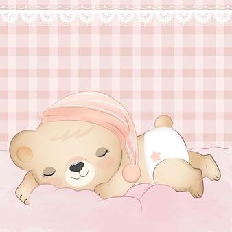Piccolo orso che dorme