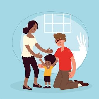Famiglia di adozione di ragazzini