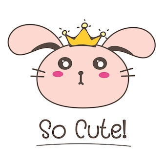 Little bunny princess so cute.
