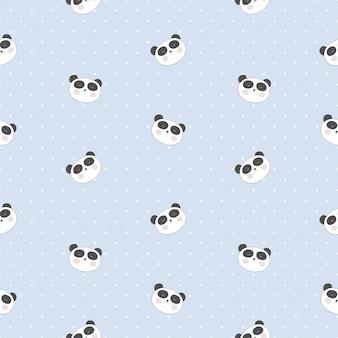 Piccolo modello senza cuciture carino panda per carta e design camicia.